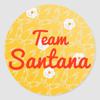 Team Santana Classic Round Sticker