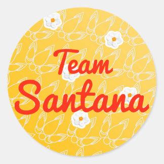 Team Santana Round Sticker