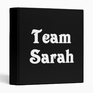 Team Sarah Vinyl Binder