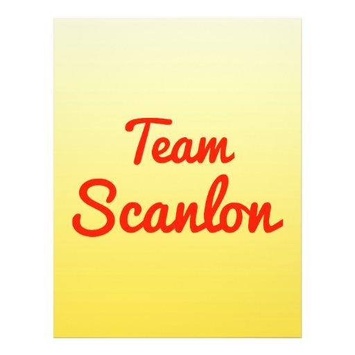 Team Scanlon Custom Flyer