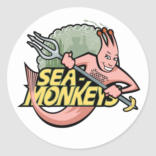 Team Sea-Monkeys Classic Round Sticker