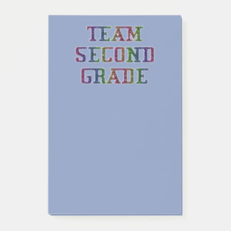 Team Second Grade Novelty School Post-It Notes