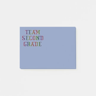 Team Second Grade, Novelty School Post-It Notes