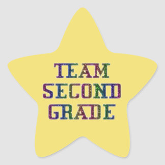 Team Second Grade, Yellow Novelty School Stickers