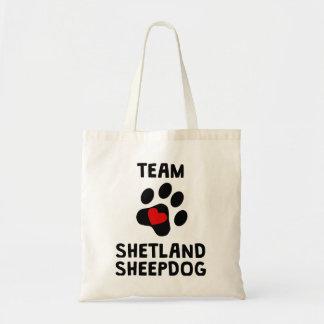Team Shetland Sheepdog Tote Bag