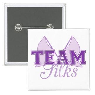 Team Silks Purple 2 Inch Square Button