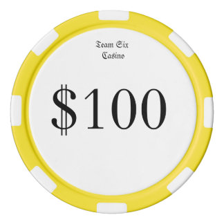 Team Six (Funny Casino Money) $100 Casino coin Poker Chips
