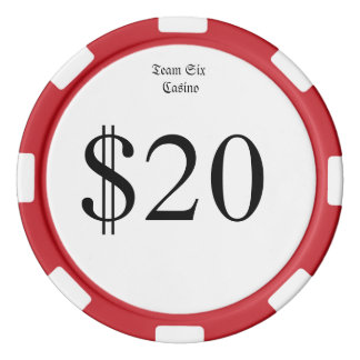 Team Six (Funny Casino Money) $20 Casino Coin Poker Chips