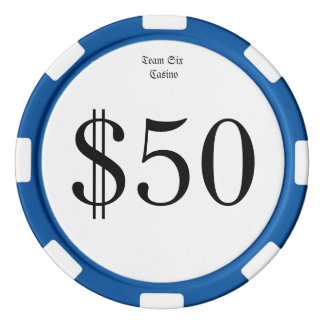 Team Six (Funny Casino Money) $50 Casino coin Poker Chips