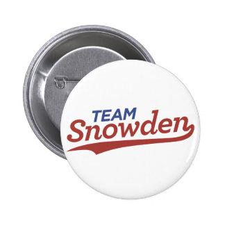 Team Snowden Script 2 Inch Round Button