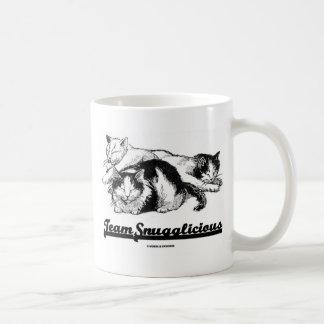 Team Snugglicious (Three Snoozing Cats) Coffee Mug
