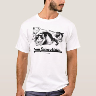Team Snugglicious (Three Snoozing Cats) T-Shirt