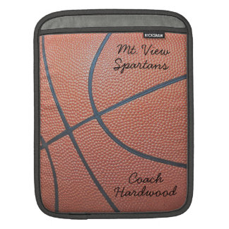 Team Spirit_Basketball texture_Autograph Style iPad Sleeve