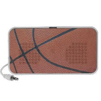 Team Spirit_Basketball texture_Hoops Lover Laptop Speaker