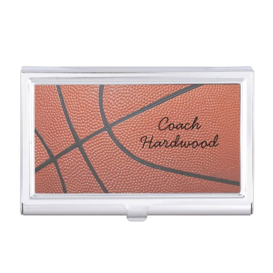 Team Spirit_Basketball texture look_personalized Case For Business Cards