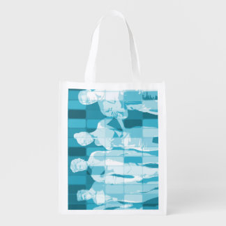 Team Spirit On a Mission in Business Concept Grocery Bags