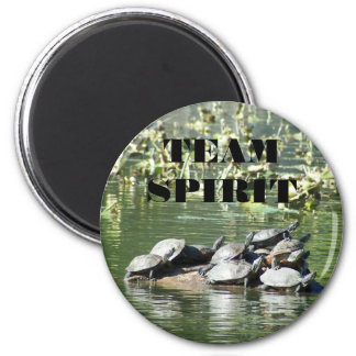 Team Spirit Turtle Photo Motivational Magnet
