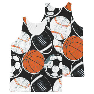 Team sport balls All-Over-Print tank top