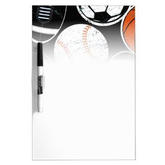 Team sport balls dry erase board