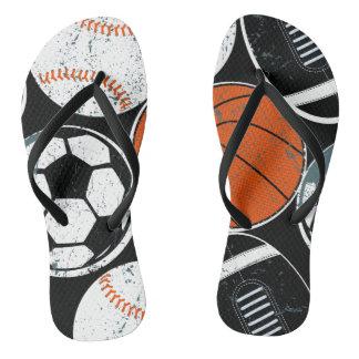 Team sport balls flip flops