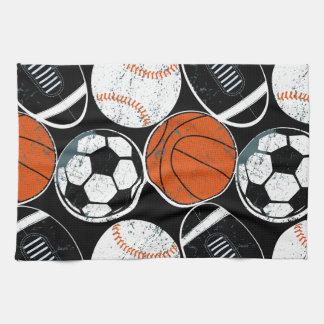 Team sport balls kitchen towel