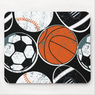 Team sport balls mouse pad