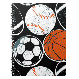 Team sport balls notebook
