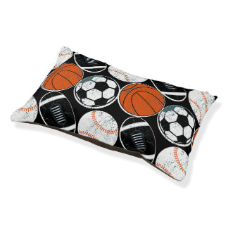 Team sport balls pet bed