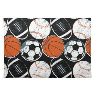 Team sport balls placemat