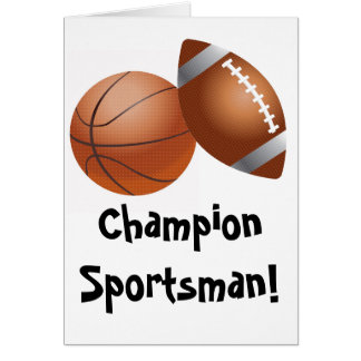 Team Sports Athelete Game Play Ball Greeting Card
