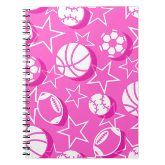 Team sports girls notebooks