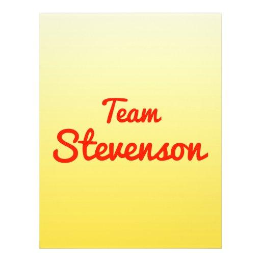 Team Stevenson Custom Flyer