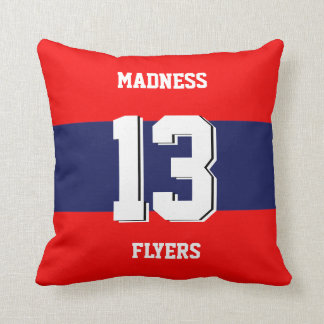 Team style drawing throw pillow