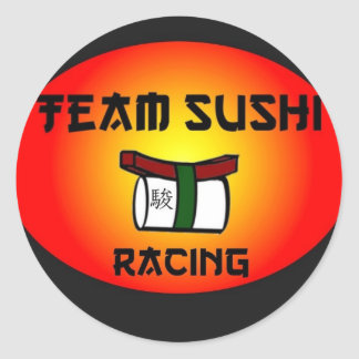 Team Sushi Racing Classic Round Sticker