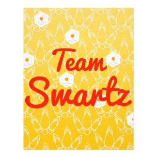 Team Swartz Custom Flyer