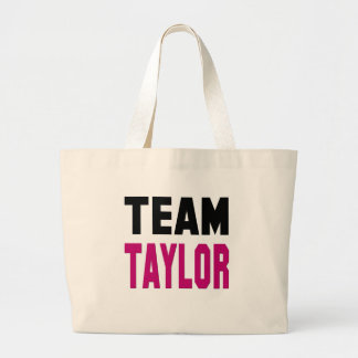 Team Taylor Large Tote Bag