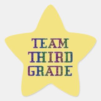 Team Third Grade, Novelty School Yellow Stickers