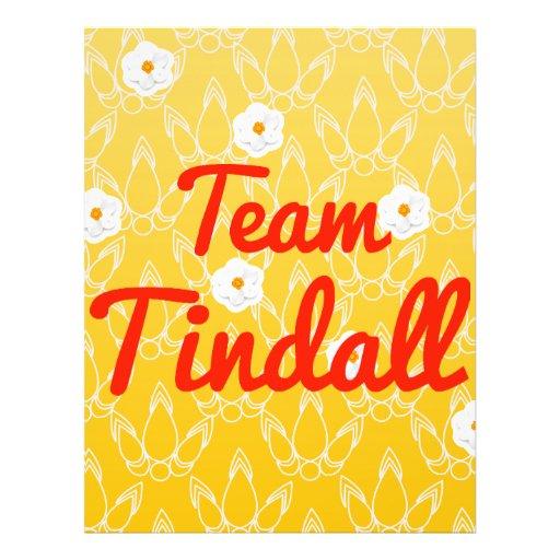 Team Tindall Custom Flyer