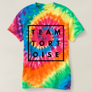 Team Tortoise Funny Rainbow Tie Dye Tee