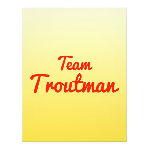 Team Troutman Full Color Flyer