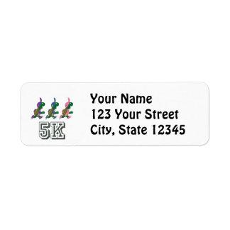 Team Turtle 5K Return Address Label