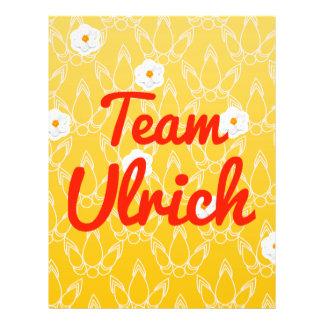 Team Ulrich Flyer Design