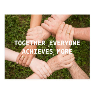 Team up for Success inspirational Postcard