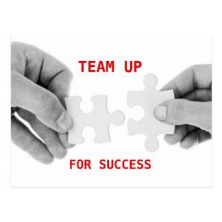 Team up for Success motivational Postcard