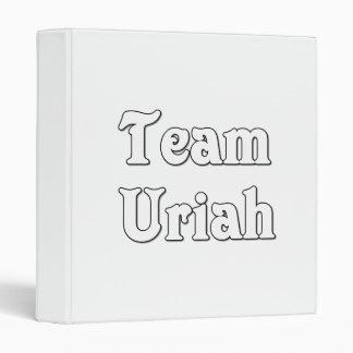 Team Uriah 3 Ring Binder