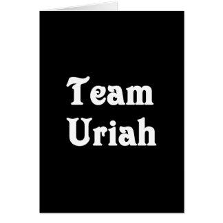 Team Uriah Greeting Card