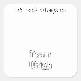 Team Uriah Square Sticker
