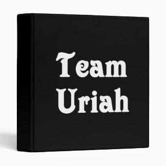 Team Uriah Vinyl Binder