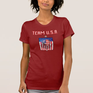 Team USA soccer silver star soccer ball sports T-Shirt