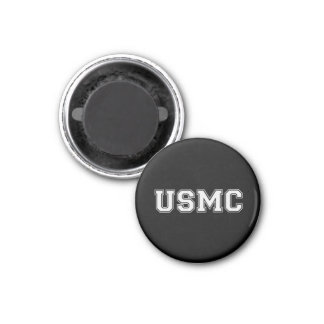 Team USMC 1 Inch Round Magnet